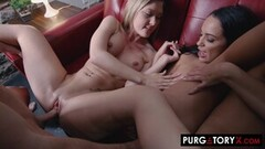 Kinky Sweet Girl With Big Tits Gets Double-Fucked In The Yard Thumb