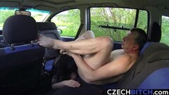 Kinky Beautiful Streets Brunette Licking Clients Ass Thumb